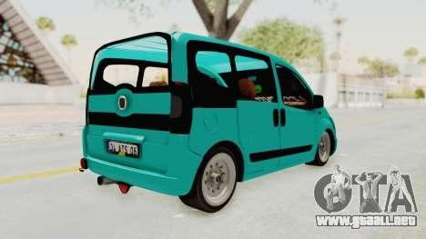 Fiat Fiorino Hellaflush v1 para GTA San Andreas vista posterior izquierda