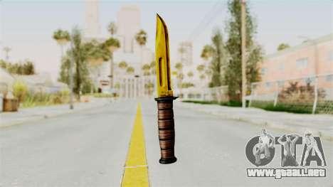 Knife Gold para GTA San Andreas segunda pantalla