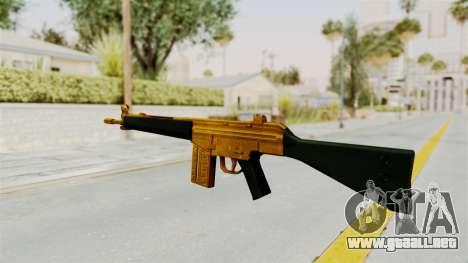 G3A3 Gold para GTA San Andreas segunda pantalla