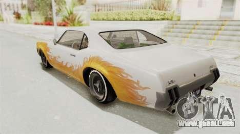 GTA 5 Declasse Sabre GT2 IVF para la vista superior GTA San Andreas
