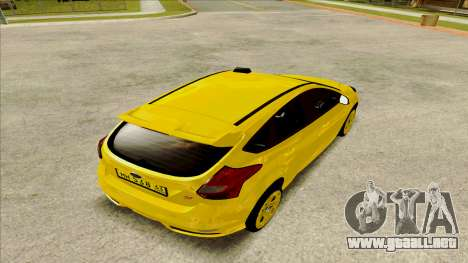 Ford Focus Taxi para GTA San Andreas left