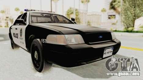 Ford Crown Victoria SFPD para la visión correcta GTA San Andreas