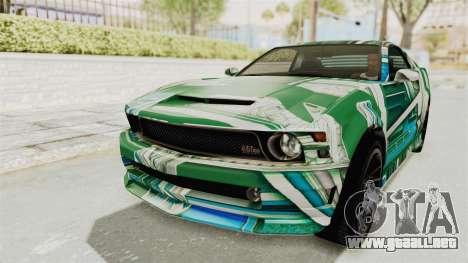 GTA 5 Vapid Dominator v2 IVF para las ruedas de GTA San Andreas