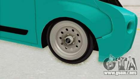 Fiat Fiorino Hellaflush v1 para GTA San Andreas vista hacia atrás