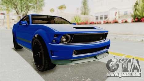 GTA 5 Vapid Dominator v2 IVF para la visión correcta GTA San Andreas