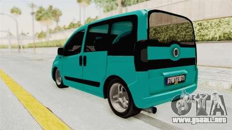Fiat Fiorino v2 para GTA San Andreas vista posterior izquierda