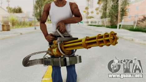 Minigun Gold para GTA San Andreas tercera pantalla