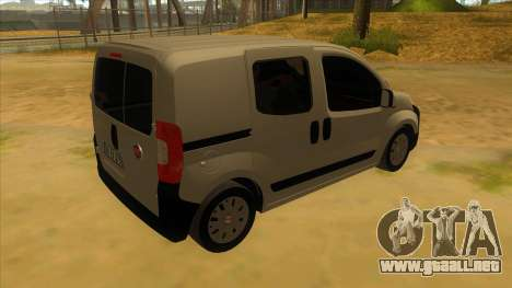 Fiat Fiorino Combi Mix para la visión correcta GTA San Andreas