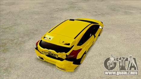 Ford Focus Taxi para GTA San Andreas vista hacia atrás