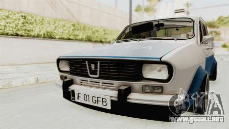 Dacia 1300 Stance Police para la visión correcta GTA San Andreas