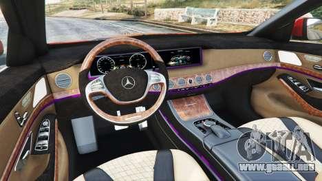 GTA 5 Mercedes-Benz S500 (W222) [bridgestone] v2.1 delantero derecho vista lateral