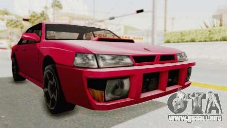 Kartin Sultan RS para GTA San Andreas vista posterior izquierda