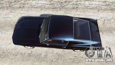GTA 5 Ford Mustang 1968 v1.1 vista trasera