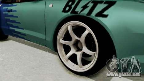 Toyota Celica GT Drift Falken para GTA San Andreas vista hacia atrás