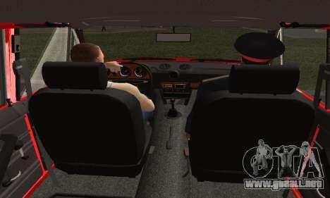 VAZ 2106 Formación para GTA San Andreas vista posterior izquierda