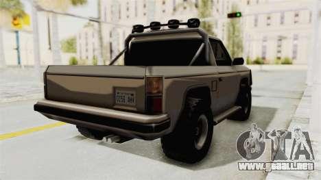 Rancher Style Bronco para GTA San Andreas vista posterior izquierda