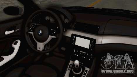 BMW M3 E46 para visión interna GTA San Andreas