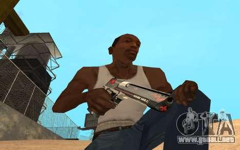 Desert Eagle Cyrex para GTA San Andreas segunda pantalla