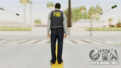 GTA 5 F.I.B. Ped para GTA San Andreas tercera pantalla