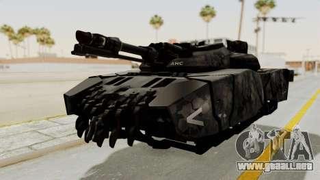 T-470 Hover Tank para GTA San Andreas vista posterior izquierda