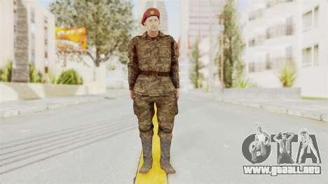 MGSV The Phantom Pain Soviet Union Commander para GTA San Andreas segunda pantalla