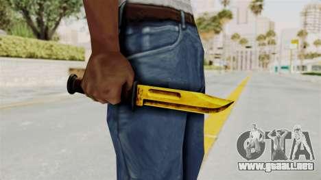 Knife Gold para GTA San Andreas tercera pantalla