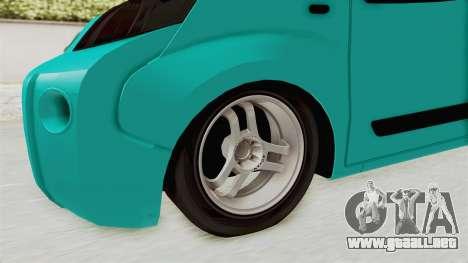 Fiat Fiorino v2 para GTA San Andreas vista hacia atrás