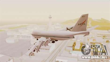 Boeing 747-123 NASA para GTA San Andreas vista hacia atrás