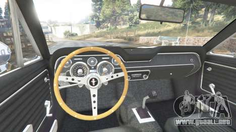 GTA 5 Ford Mustang 1968 v1.1 vista lateral trasera derecha