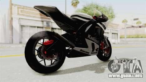 Kawasaki Ninja ZX-RR Streetrace para la visión correcta GTA San Andreas
