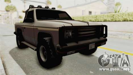 Rancher Style Bronco para la visión correcta GTA San Andreas