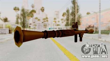 Rocket Launcher Gold para GTA San Andreas tercera pantalla