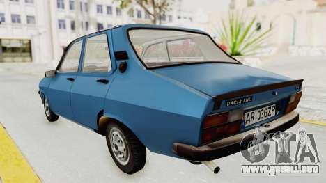 Dacia 1310 MLS 1988 Stock para GTA San Andreas vista posterior izquierda