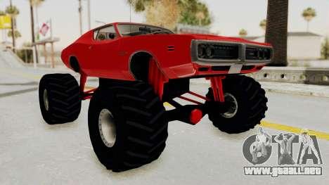 Dodge Charger 1971 Monster Truck para la visión correcta GTA San Andreas