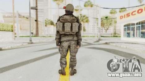 COD BO SOG Woods v2 para GTA San Andreas tercera pantalla