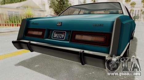 GTA 5 Dundreary Virgo Classic Custom v3 IVF para vista inferior GTA San Andreas