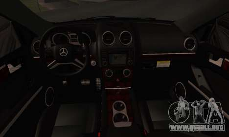 Mercedes-Benz ML 63 AMG para vista lateral GTA San Andreas