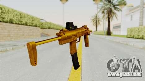 MP7A1 Gold para GTA San Andreas tercera pantalla