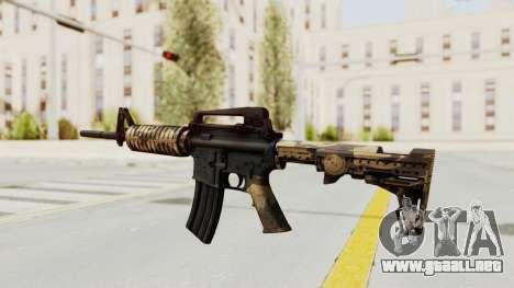 HD M4 v3 para GTA San Andreas tercera pantalla