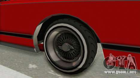 GTA 5 Dundreary Virgo Classic Custom v2 para GTA San Andreas vista hacia atrás