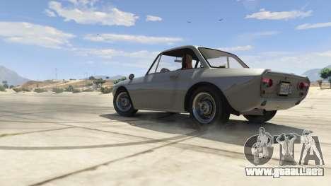 GTA 5 Lancia Fulvia vista lateral derecha