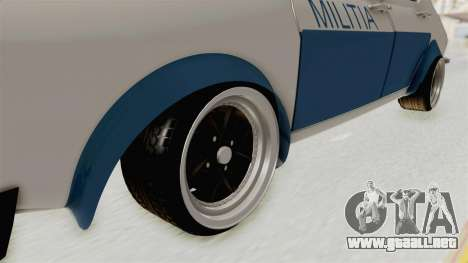 Dacia 1300 Stance Police para GTA San Andreas vista hacia atrás