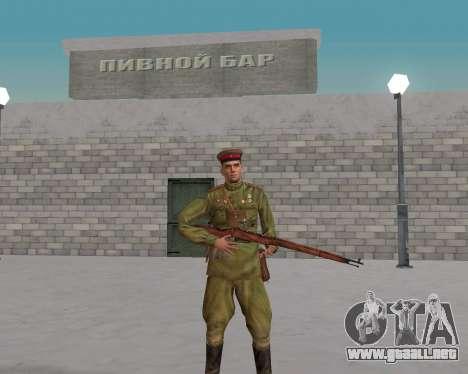 Pak combatientes del ejército rojo para GTA San Andreas segunda pantalla