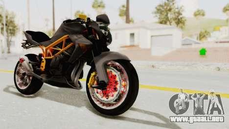 Kawasaki ER 6N Superbike para la visión correcta GTA San Andreas