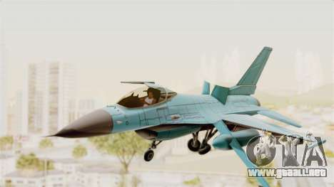 F-16 Fighting Falcon Civilian para GTA San Andreas vista posterior izquierda