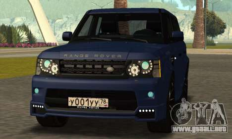 Range Rover Sport Tuning para GTA San Andreas vista posterior izquierda
