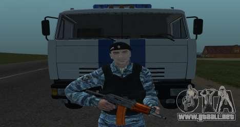 Un Policía Antidisturbios para GTA San Andreas tercera pantalla