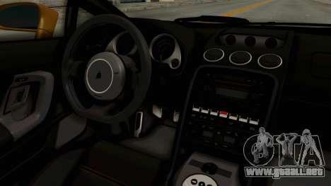 Lamborghini Gallardo 2005 para visión interna GTA San Andreas