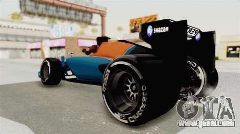 Rio Haryanto 88 F1 Manor Racing para la visión correcta GTA San Andreas
