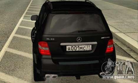 Mercedes-Benz ML 63 AMG para la visión correcta GTA San Andreas